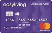 easy living collector bank kreditkort
